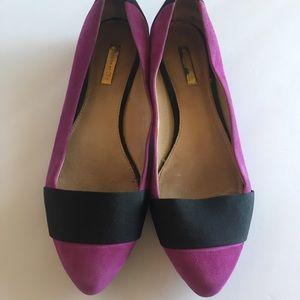 Louise et cie Flats purple pointed toe suede